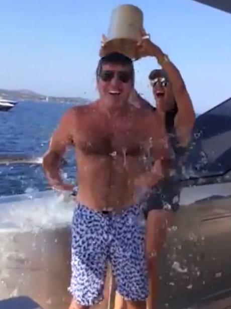 Simon Cowell Ice Bucket challenge