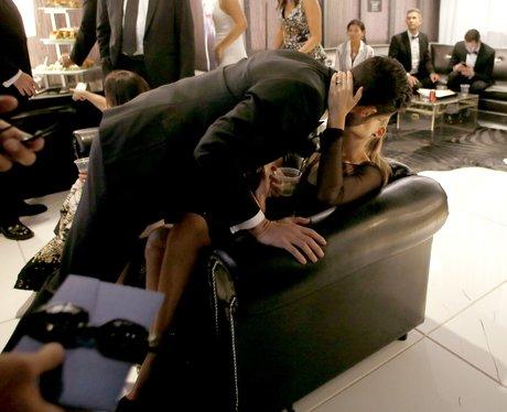 Adam Levine and Behati Prinsloo kiss