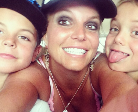 Britney Spears and Children Selfie