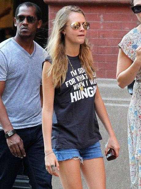 Cara Delevingne Slogan T Shirt