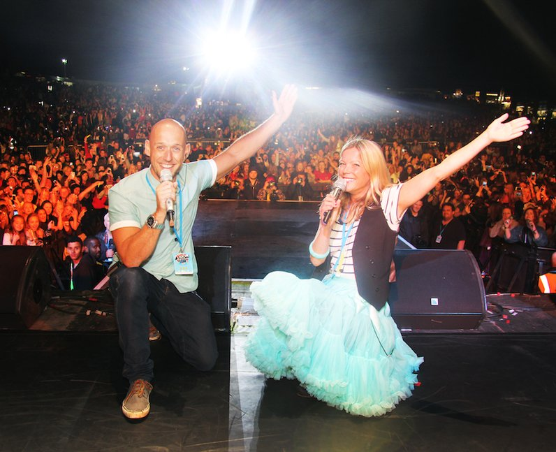 Dan and Katy with the crowd at Fusion Festival 201