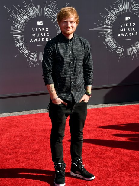Ed Sheeran MTV VMAs 2014 Red Carpet