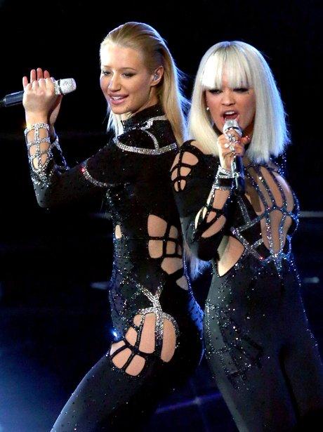 Iggy Azalea And Rita Ora MTV VMA 2014