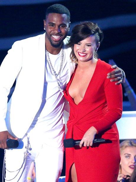 Jason Derulo And Demi Lovato MTV VMA 2014