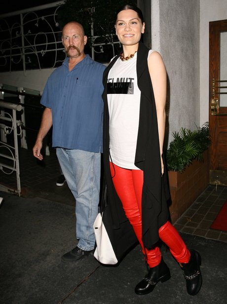 Jessie j with her bodyguard