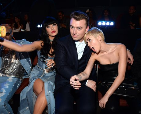 Miley Cyrus, Sam Smith and Katy Perry at the VMAs
