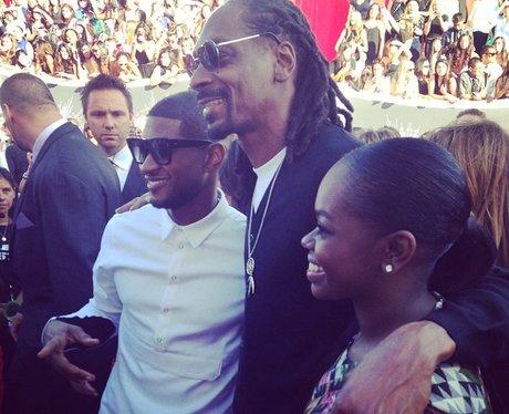 Usher, Snoop Dog and Cori Broadus