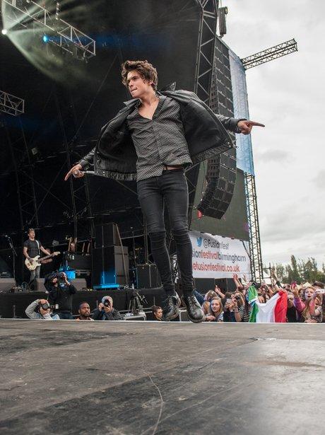 Bradley The Vamps Fusion Festival 2014