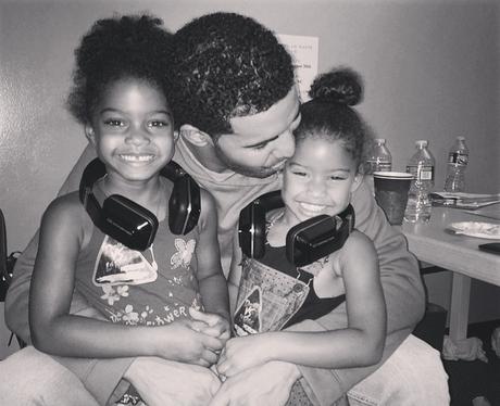 Drake with kids