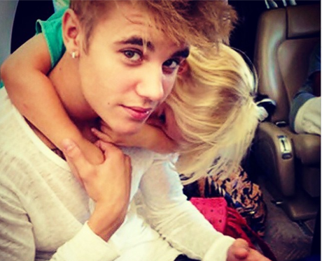 Justin Bieber and Little Sister