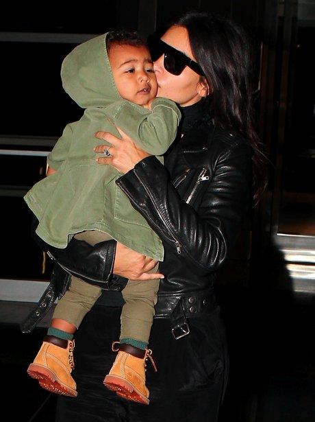Kim Kardashian Kissing North