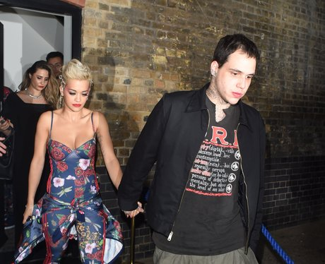 Rita Ora and Ricky Hilfiger Holding Hands