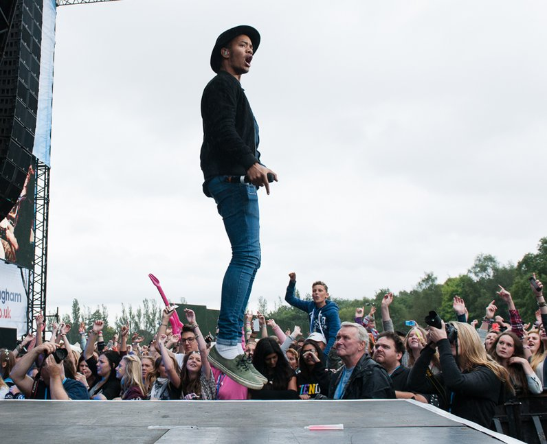 Rizzle Kicks on Stage at Fusion Festival