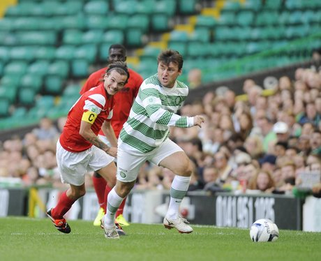 Louis Tomlinson plays football for charity