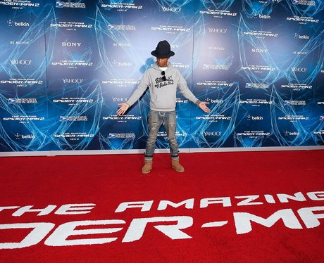 Pharrell Spiderman Premiere