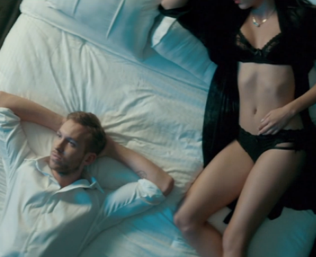 Calvin Harris in the Blame music video