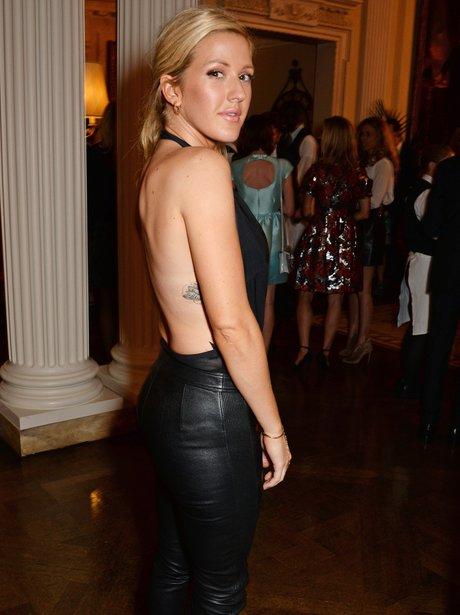 Ellie Goulding wearing a backless top