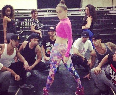 Jennifer Lopez rehearsing