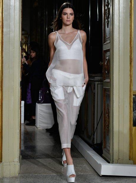 Kendall Jenner Milan Fashion Week 2014
