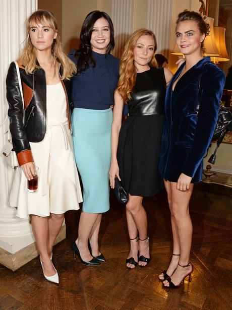 Suki Waterhouse, Daisy Lowe, Clara Paget and Cara