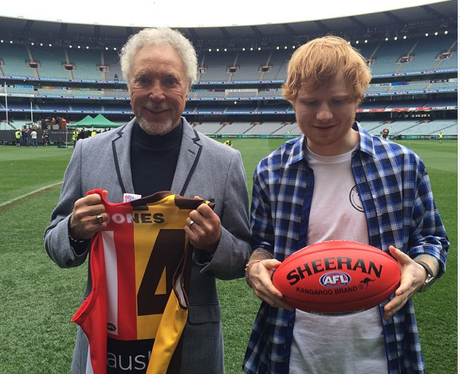 Ed Sheeran and Tom Jones