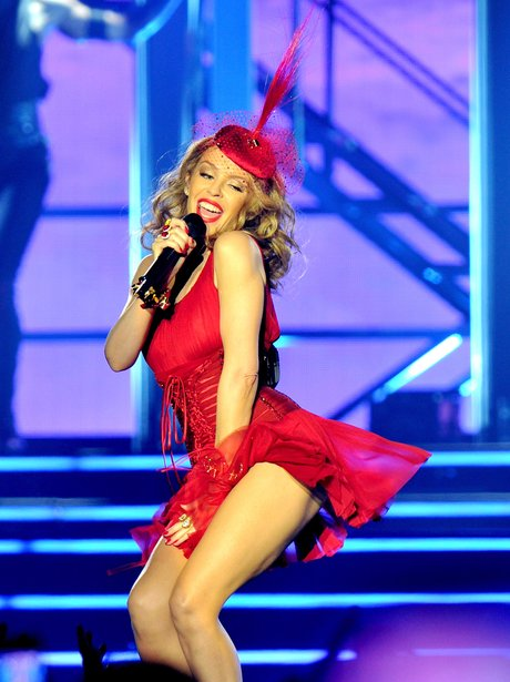 Kylie Minogue on stage