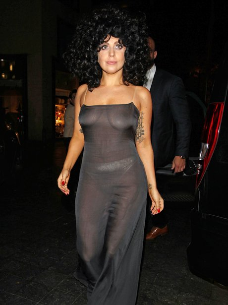 Lady Gaga See Through Outfit