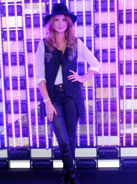 Millie Mackintosh wearing leather trousers