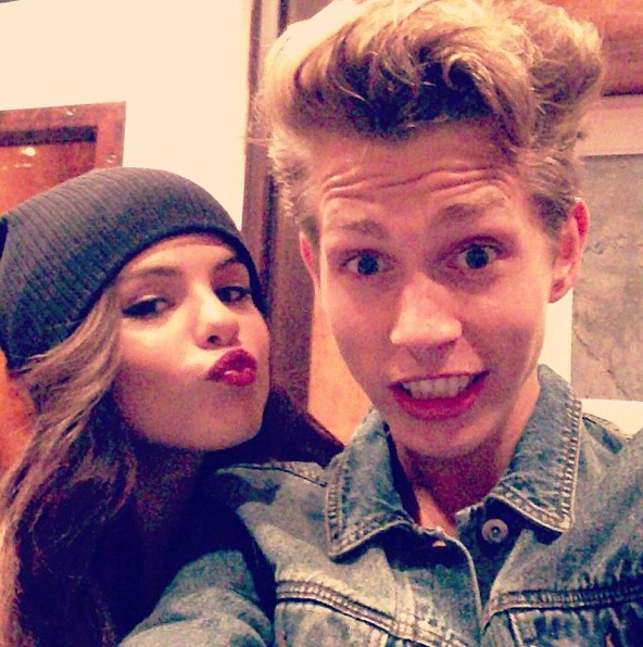 Selena Gomez With James The Vamps