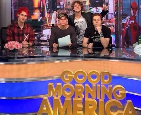 5sos 'Good Morning America' Instagram