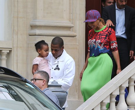 Beyonce, Jay Z and Blue Ivy in Paris