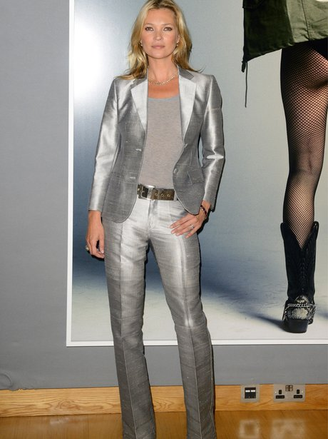 Kate Moss Silver Suit