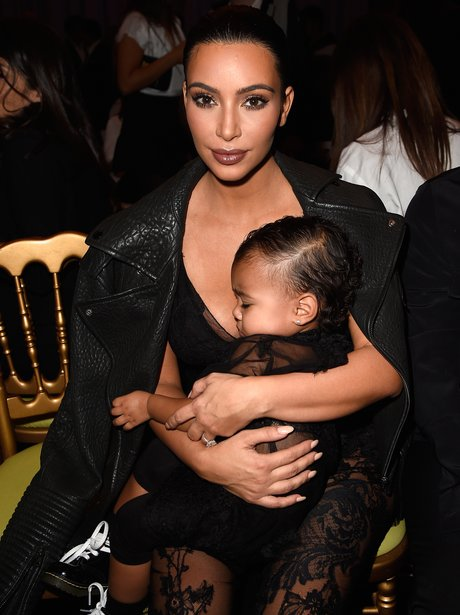Kim Kardashian and North West Sleeping