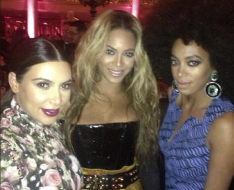 Kim Kardashian, Beyonce and Solange Instagram