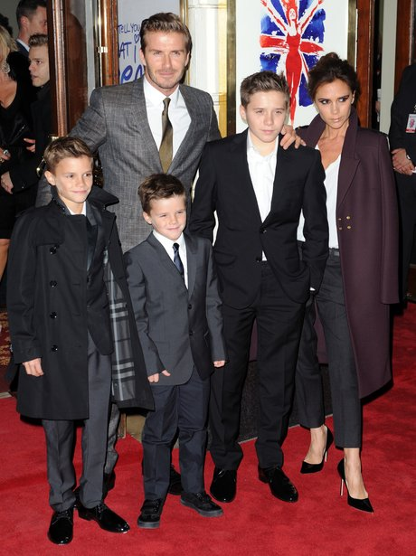 The Beckhams in Suits