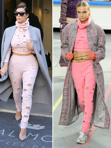 Who Wore It Best: Cara Delevigne and Kim Kardashian