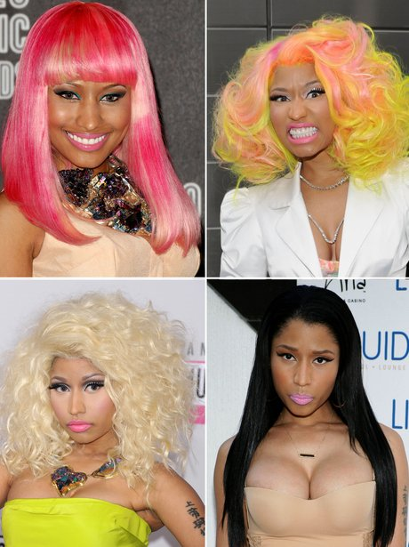 Nicki Minaj's hair transformations