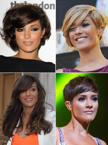 Frankie Sandford's hair transformations