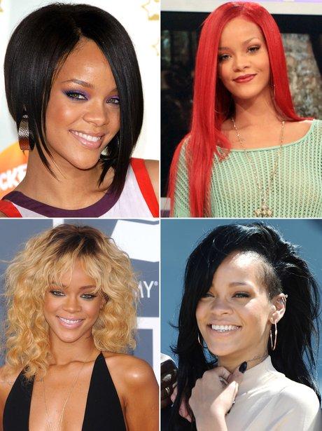 Rihanna's hair transformations