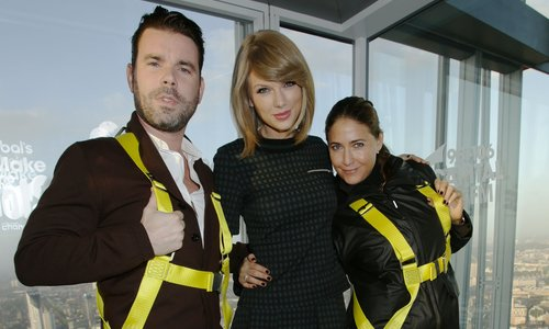 Dave Berry and Lisa Snowdon with Taylor Swift
