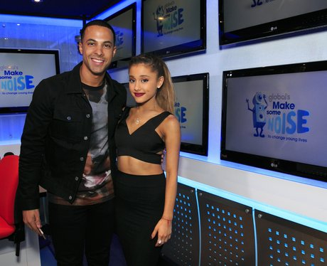 Marvin Humes and Ariana Grande