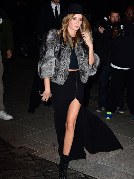 Millie Mackintosh in a fur coat