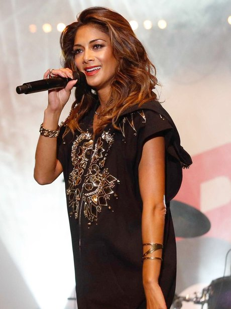 Nicole Scherzinger performing on stage