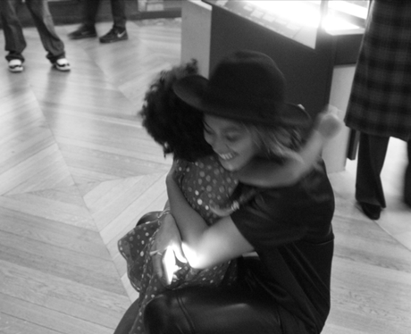 Beyonce and Blue Ivy Hugging