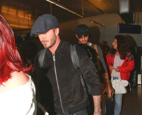 David Beckham and Chris Martin