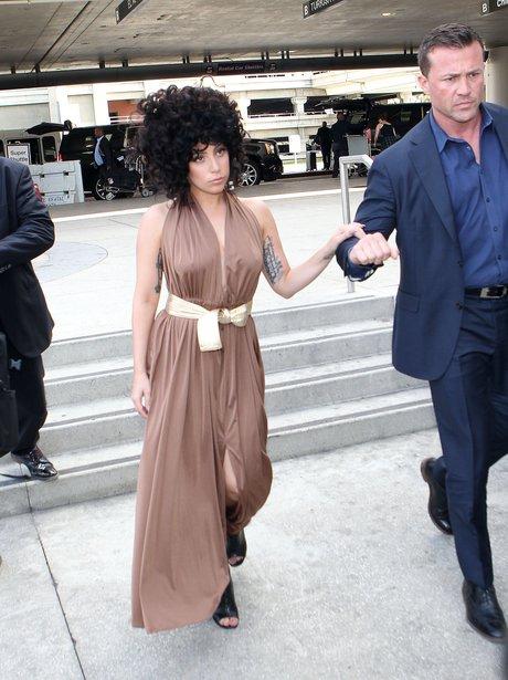 Lady Gaga with big curly hair