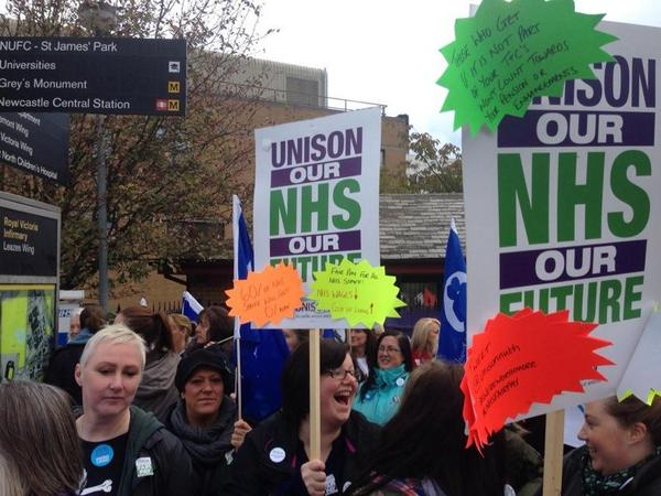 Strike action at Newcastle's RVI