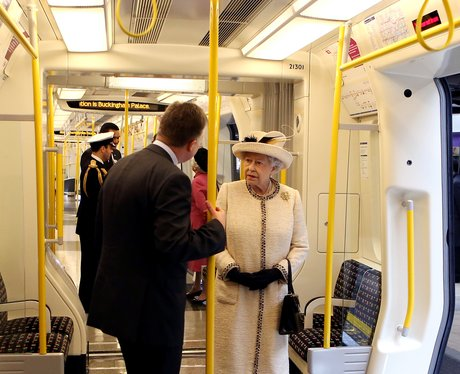 The Queen on the tube