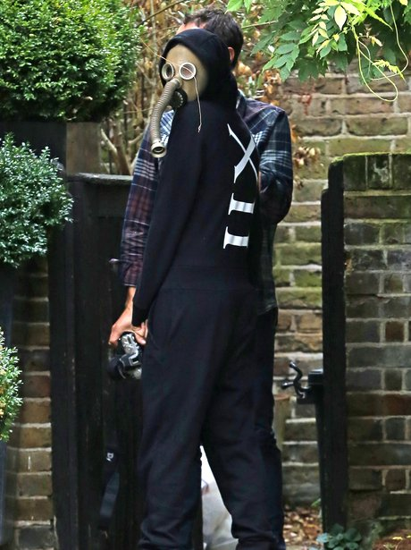 Cara Delevingne Disguise Gas Mask