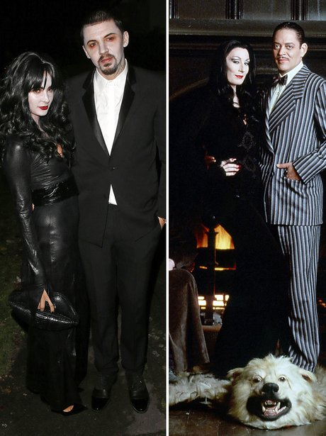 Millie Mackintosh and Professor Green also did a couples costume as Morticia and Gomez Addams  sc 1 st  Capital FM & 29 Incredible Celebrity Halloween Costumes: The Spookiest Outfit ...